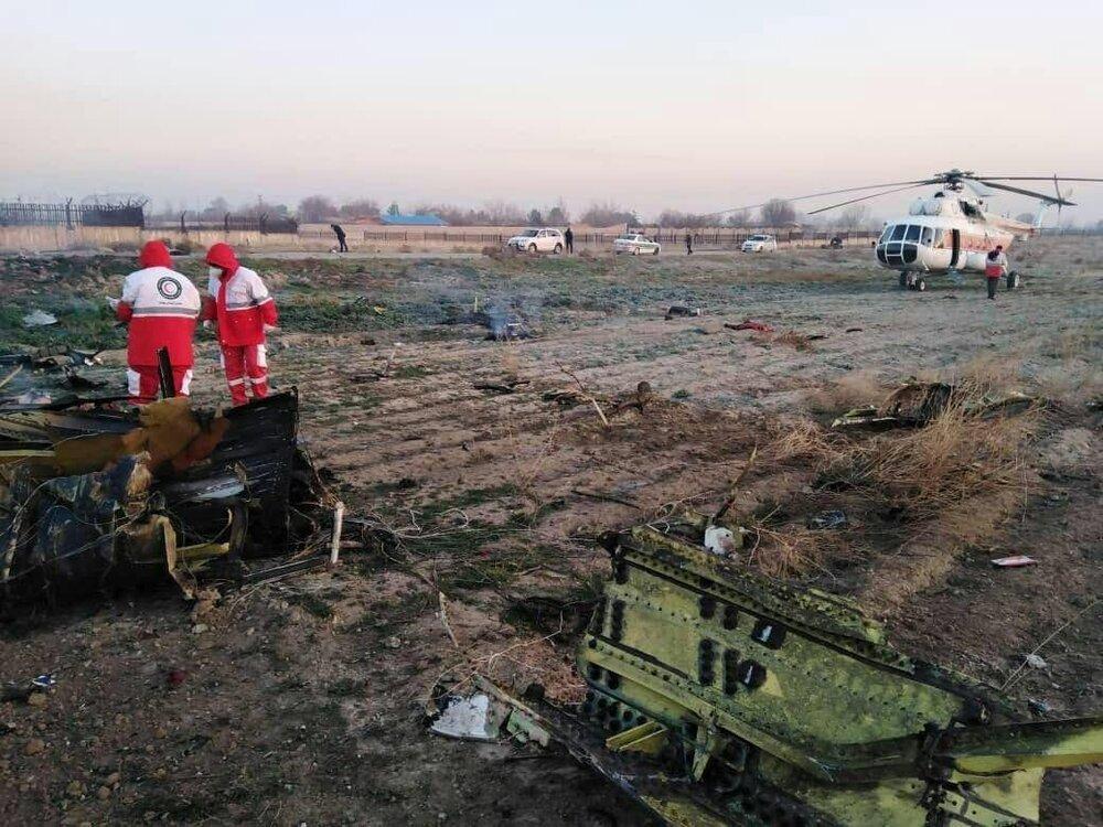 پایان عملیات جمع آوری اجساد جانباختگان سانحه سقوط هواپیمای اوکراینی