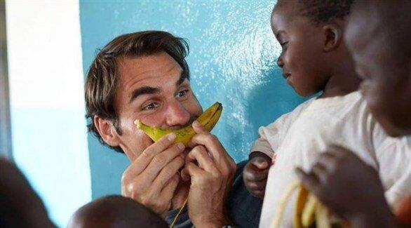یاری یک میلیون دلاری فدرر به بچه ها آفریقایی