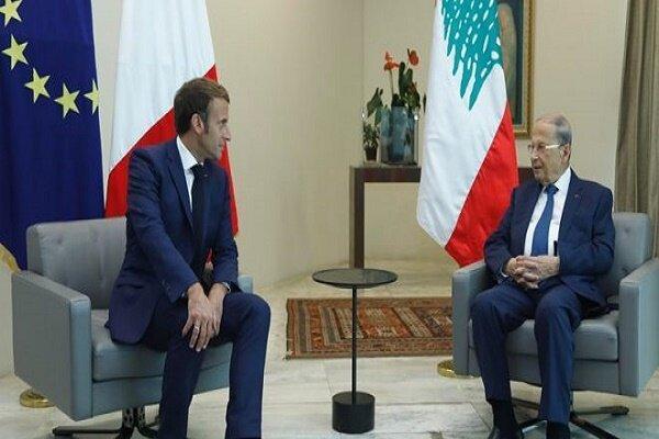به صورت تلفنی؛ رؤسای جمهور لبنان و فرانسه با یکدیگر رایزنی کردند