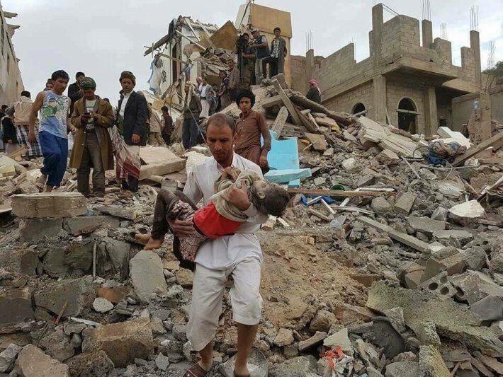 خبرنگاران کمیته ملی یونسکو در یمن خواهان ارجاع پرونده کودک کشی عربستان به دیوان کیفری شد
