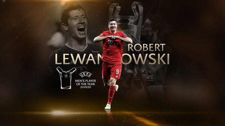 لواندوفسکی بازیکن سال اروپا شد