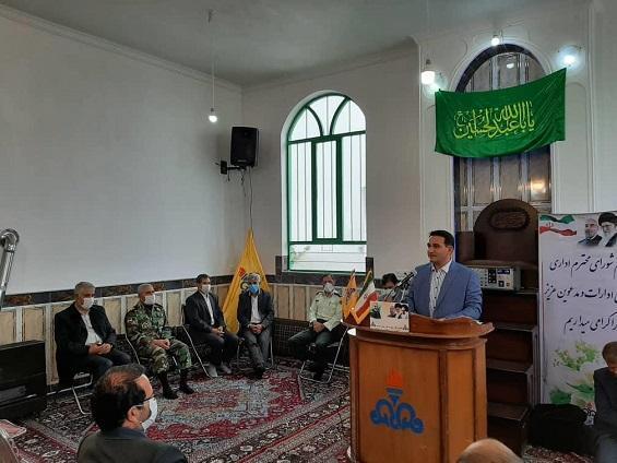 اتصال روستای مجید آباد شهرستان مرند به شبکه گاز