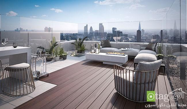 مدل طراحی آپارتمان پنت هاوس با دکوراسیون داخلی لوکس