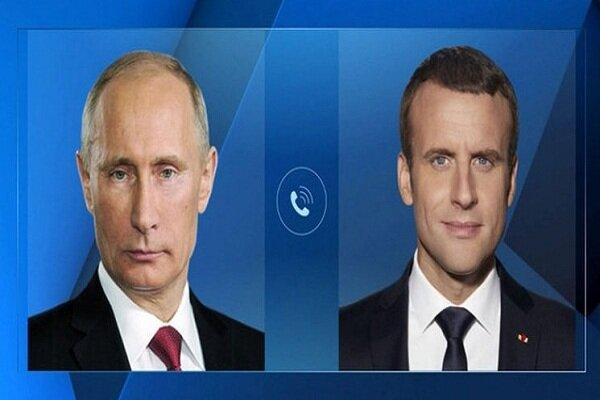 تاکید پوتین و ماکرون بر همکاری روسیه و فرانسه در مورد قره باغ
