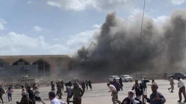 انفجارهای شدید در فرودگاه عدن