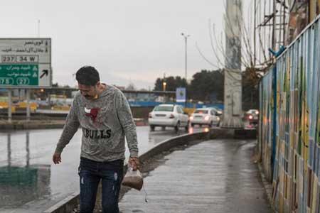 کیفیت خوب هوای پایتخت به لطف باد و باران