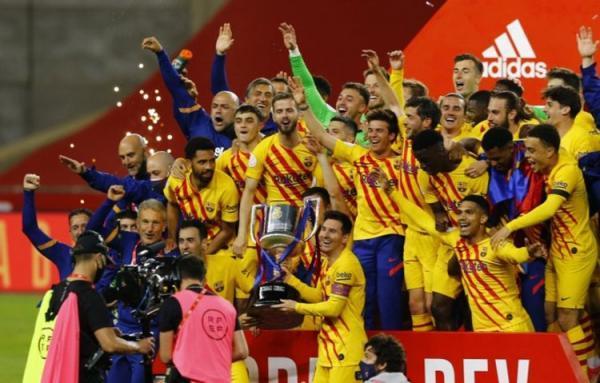 (ویدیو) خلاصه بازی بارسلونا 4 - 0 بیلبائو؛ قهرمانی بارسا با دبل مسی