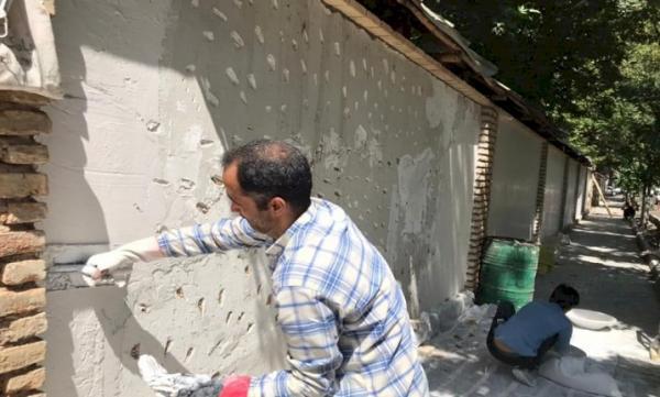 سرانجام فاز اول پروژه حفاظت و بازسازی دیوار محیطی مجموعه فرهنگی تاریخی سعدآباد