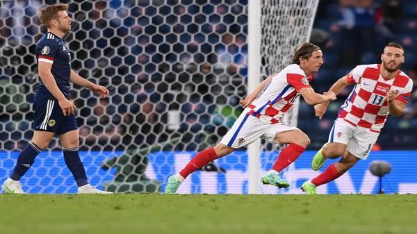 مودریچ، مسن ترین گلزن کرواسی در جام ملت های اروپا