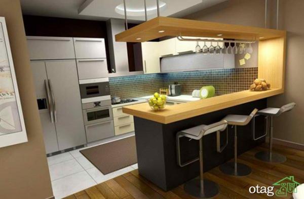 طرح اپن شیک آشپزخانه های ایرانی و خارجی مناسب فضاهای کوچک